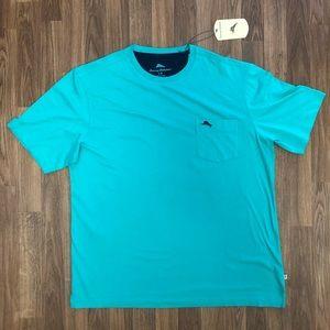 🌴 NWT Tommy Bahama Green Pocket T-Shirt Men's L